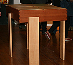Cajon table (also available with coffee table height legs)